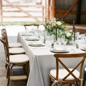 Chic Rustic Barn Wedding in Brown and Blue
