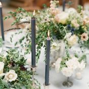 Rustic Pastel Centerpieces with Taper Candles