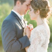 Romantic Rustic Wedding Photos at Magic Hour