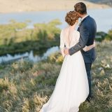 Rustic Elegance Ranch Wedding Shoot in Dusty Blue