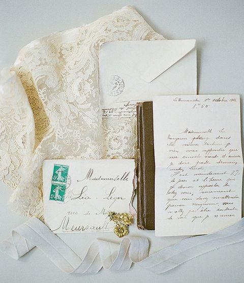 Cream and Gold Calligraphy Wedding Invitation