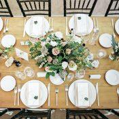 Rustic Farm Table with Modern Wedding Decor