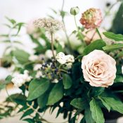 Botanical Centerpiece in Neutral and Black