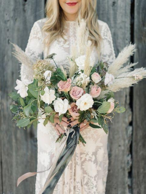 Long Sleeve Lace Bohemian Wedding Dress