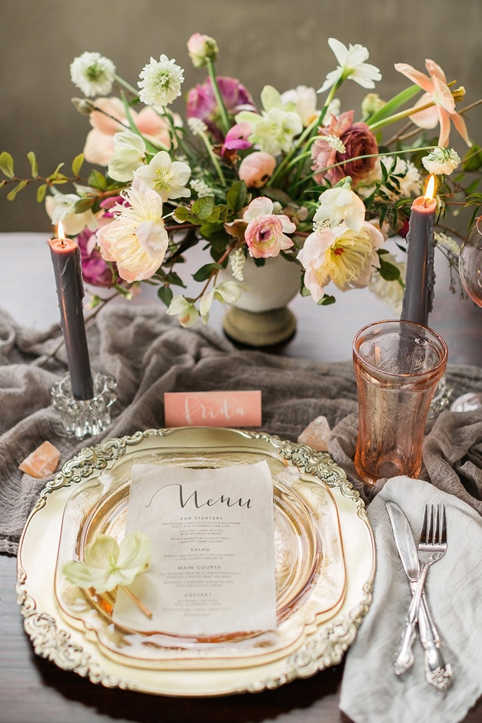 Blush Gold And Gray Wedding Decor Rustic White Photography