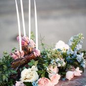 Elegant Beach Wedding Centerpiece with a Sea Shell Candleholder