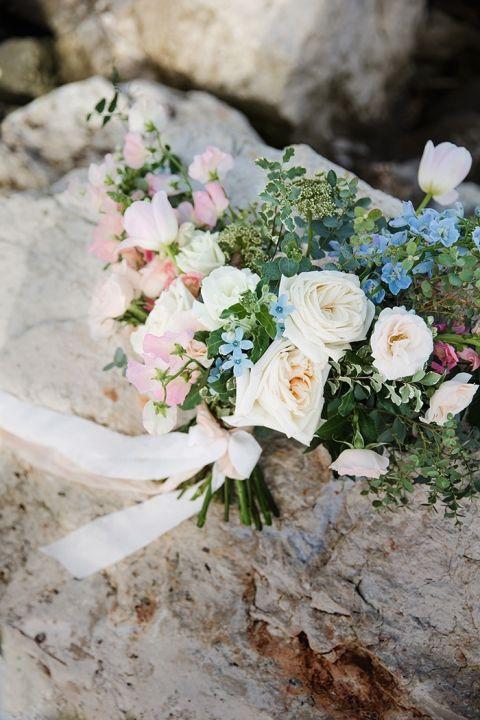 Dreamy Blush and Blue Bouquet