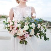 Rose Quartz and Serenity Bridal Bouquet