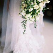 Organic Glam Bridal Portraits with a Sparkling Wedding Dress