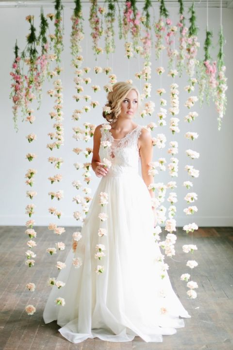 Hanging Flower Ceremony Backdrop