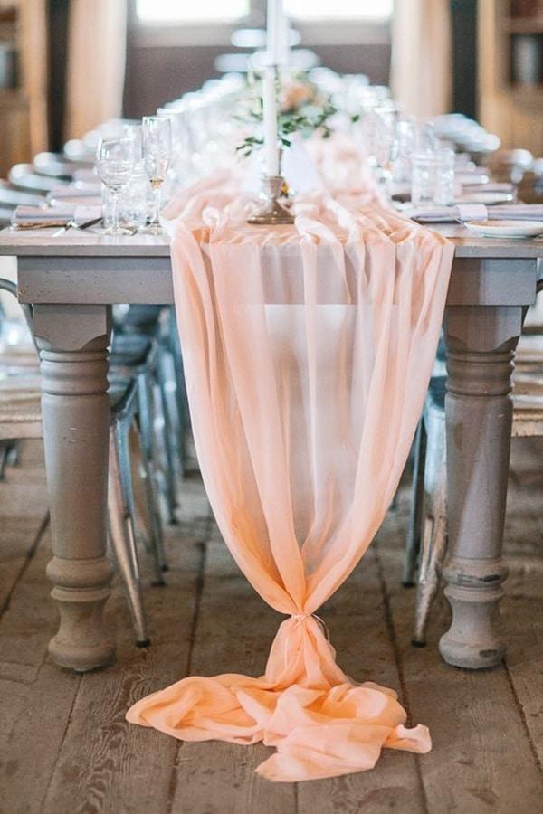 Summer Brunch Wedding Ideas In Peach And Blue Hey
