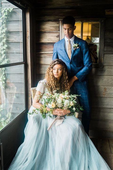Sky Blue Wedding Dress 40 Vintage Romantic Southern Wedding Portraits