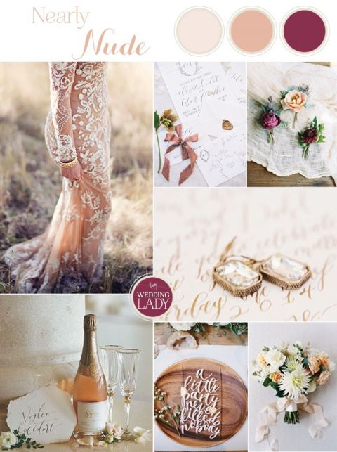 Glam Fall Wedding Palette Inspiration in Neutrals and Jewel Tones