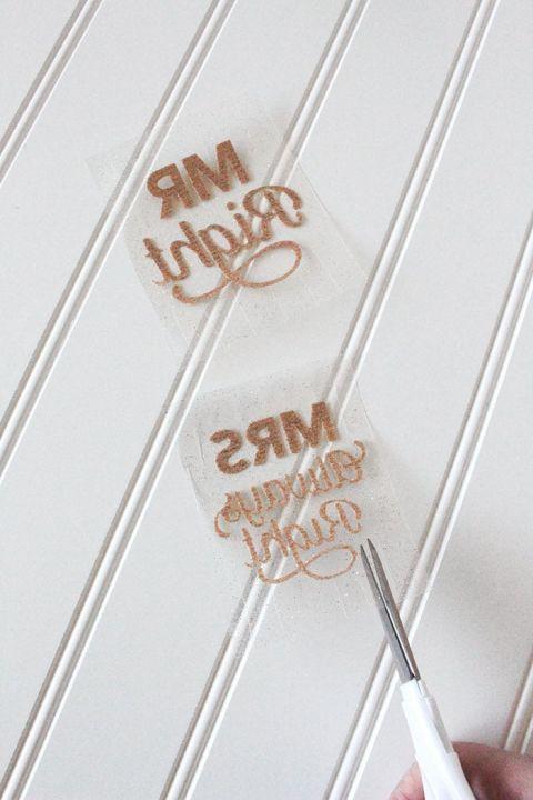 DIY Iron On Gold Glitter Mugs