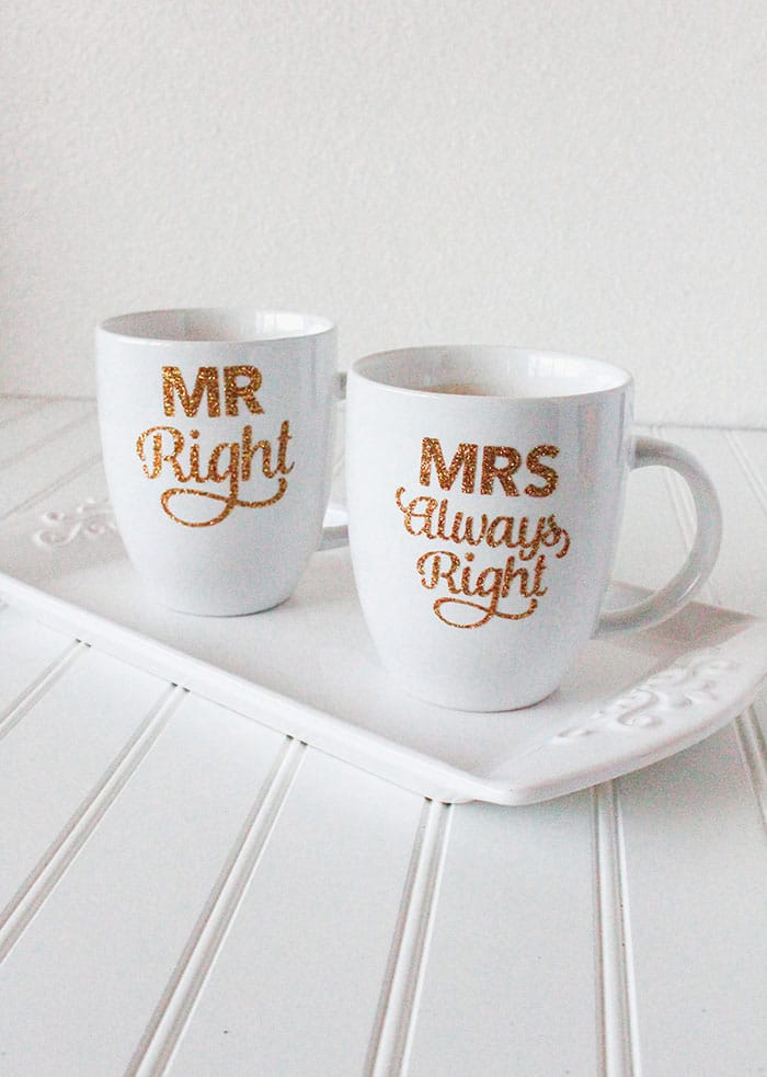 Mrs Always Right Collection Review: DIY Gold Glitter Mug For Mr. Right And Mrs. Always Right