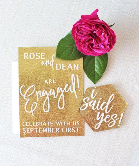 Cricut Wedding Invitations 32 Spectacular Glam Sparkling Engagement Party