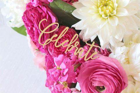 Cricut Wedding Invitations 50 Fabulous Pink and Gold Glitter