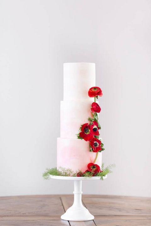 Red And White Wedding Cakes 65 Superb Blush Watercolor Wedding Cake