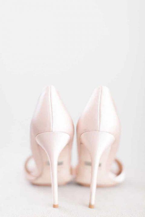 Blush Silk Bridal Shoes