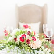 Elegant Red and Neutral Wedding Table
