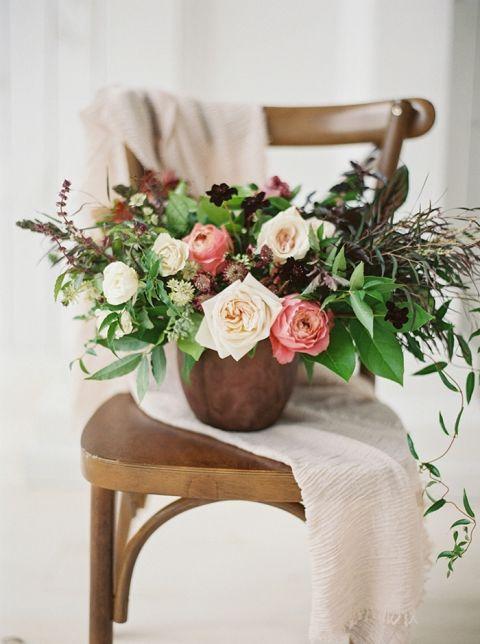 Earthy Rustic Wedding Centerpiece