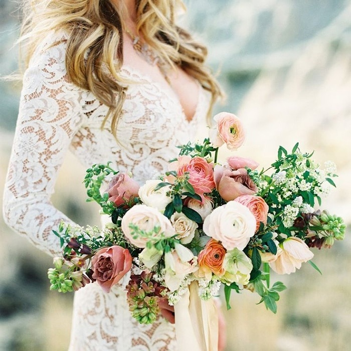 Metallic bohemian wedding ideas in coral and copper hey wedding lady junglespirit Image collections