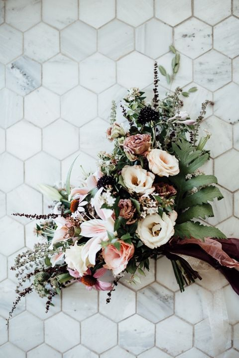 Fall Pastels for a Dreamy Bridal Bouquet