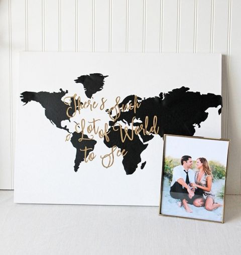 World map wall sticker with destination markers at home and great creating a diy travel wall gumiabroncs Image collections