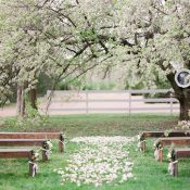 Blooming Spring Orchard Wedding Ceremony