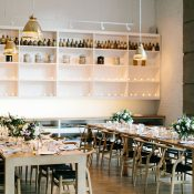 Intimate Restaurant Wedding with Glowing Candlelight