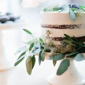 Naked Cake with Greenery Garlands