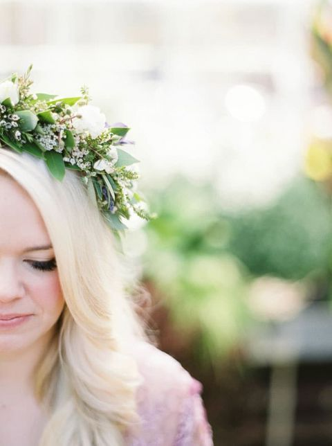 Delicate Greenery Wreath for an Ethereal Bride