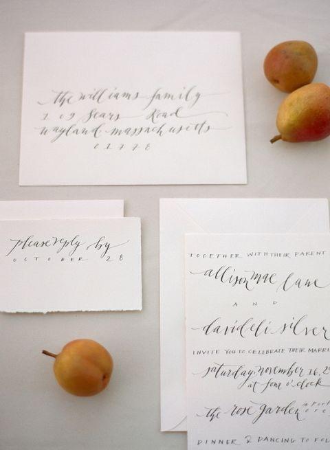 Classic Script Wedding Invitations