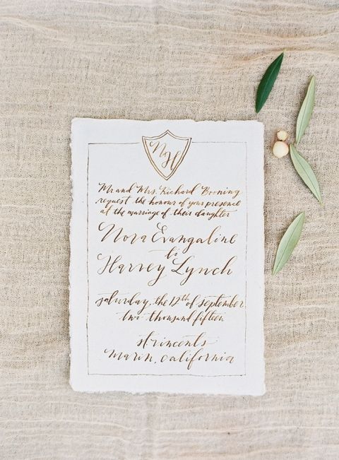 Elegant Monogram Wedding Invitation