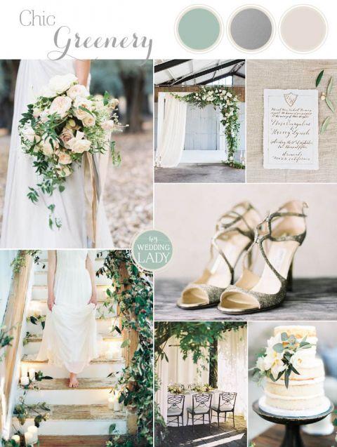 Organic Silver and Greenery Wedding Inspiration