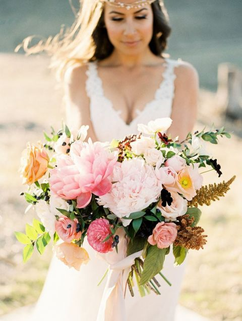 Pink and Coral Fall Bouquet