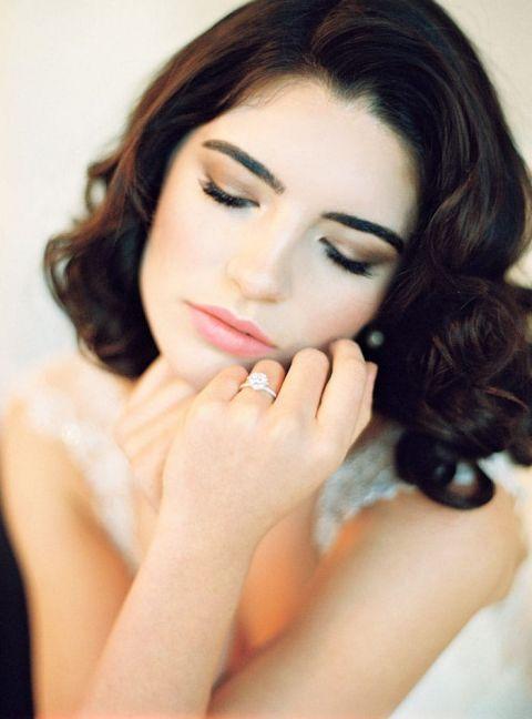 Glam Bridal Makeup : Vintage Glam Wedding Shoot in Spring Pastels - Hey Wedding ...