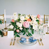 Gold and Pastel Wedding Decor