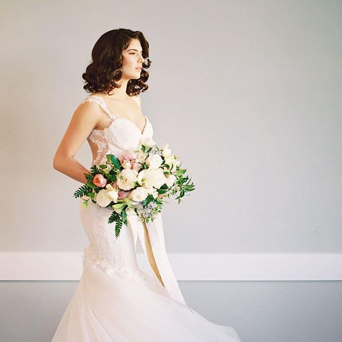 Vintage Glam Wedding Shoot in Spring Pastels - Hey Wedding Lady