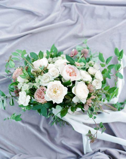 Ivory and Mauve Garden Bouquet