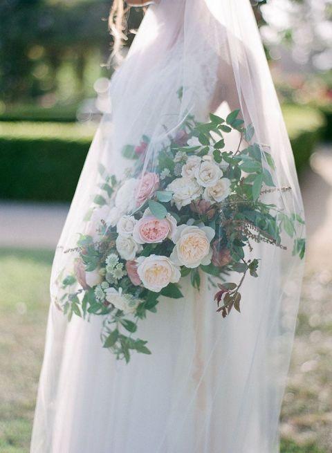 Fine Art Bride with a Veiled Bouquet
