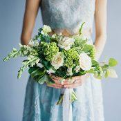 Crop Top Bridesmaid Dress in Serenity Blue