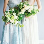 Elegant Modern Bride and Bridesmaid