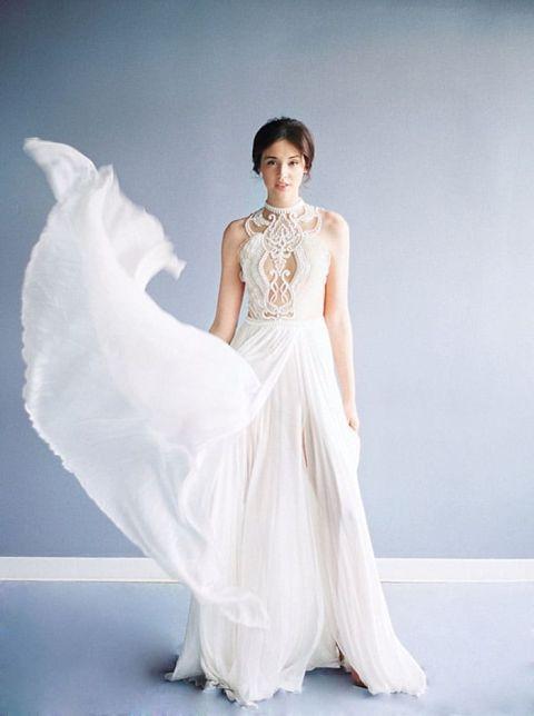 Luminous Illusion Bridal Style in Blue and White Hey Wedding Lady