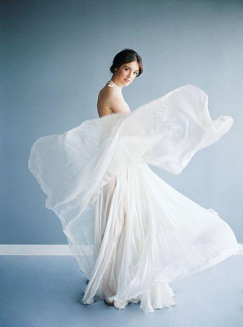 Luminous Illusion Bridal Style in Blue and White | Hey Wedding Lady