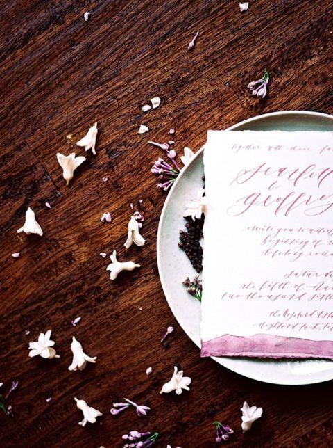 Lilac Watercolor Wedding Invitations