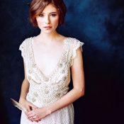 Stunning Fine Art Bridal Style in Cobalt Blue