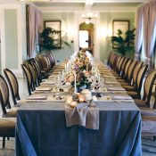 Luxe Purple and Gold Event Decor