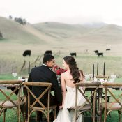 Rustic California Ranch Wedding with Black Tie Style