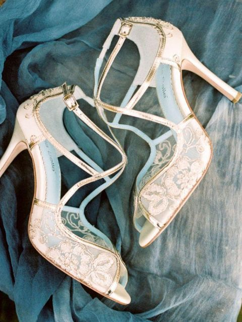 Gold Lace Wedding Shoes